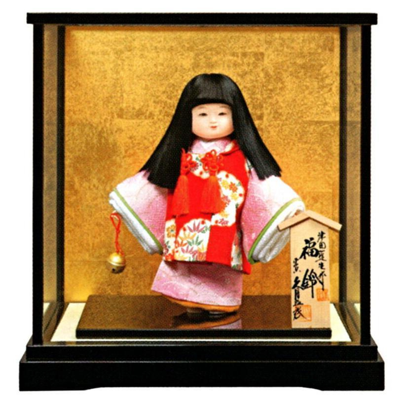 浮世人形 ケース飾り 津田蓬生作 宝印6 若葉 福鈴