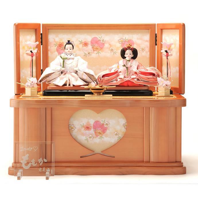 雛人形 ひな人形 コンパクト 収納飾り 親王飾り ももか h243-kit-3121-124
