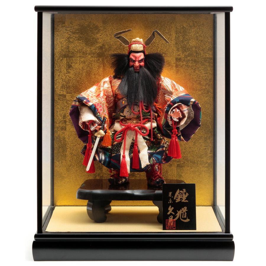 ケース飾り 武者人形 三五鍾馗 取付ケース入