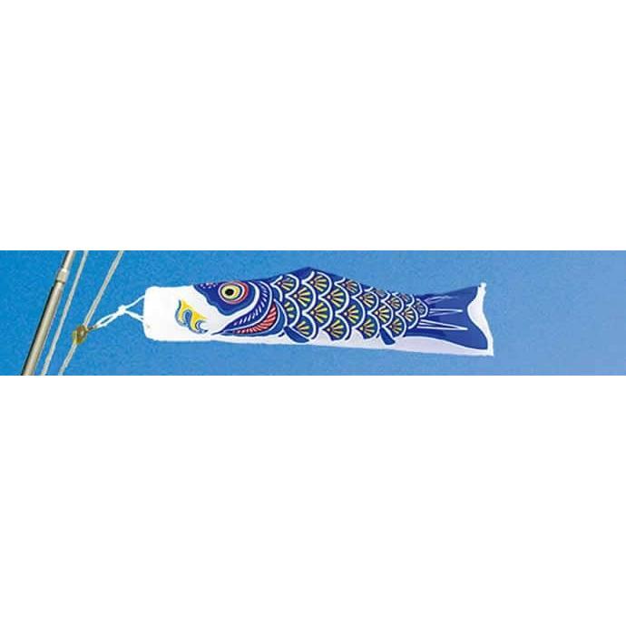 こいのぼり 村上鯉 鯉のぼり ベランダ用 スタンダードホームセット 1.5m ナイロンゴールド 金粉刷込 五色吹流し mk-110-524 2508-honpo 06