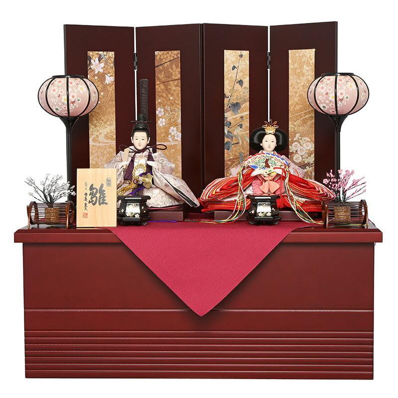 雛人形 平安豊久 ひな人形 コンパクト収納飾り 親王飾り ひまり 小三五親王 mocp-304814-sb