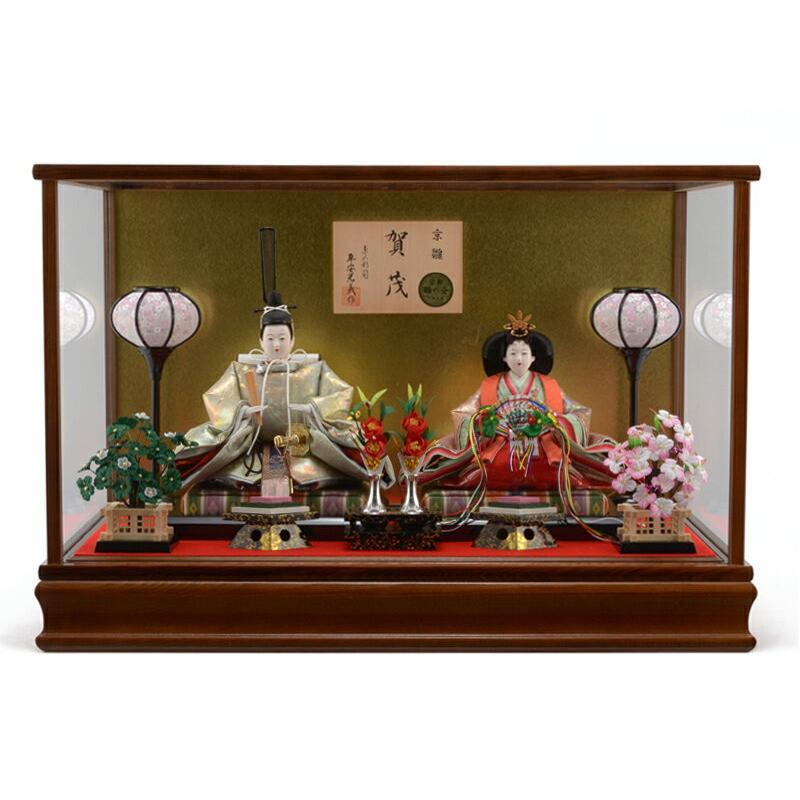 ひな人形 雛人形 親王飾り ケース飾り h253-mty-382501-054621