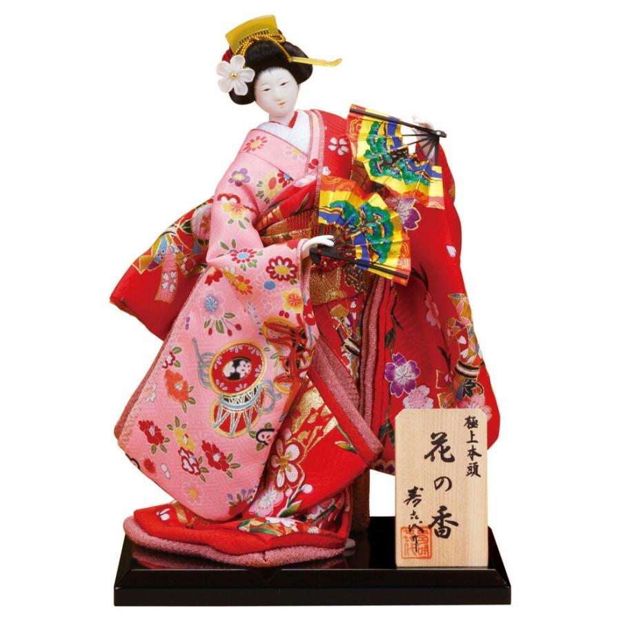 日本人形 尾山人形 人形単品 寿喜代作 極上本頭 花の香 正絹 5号 sk-hananok519