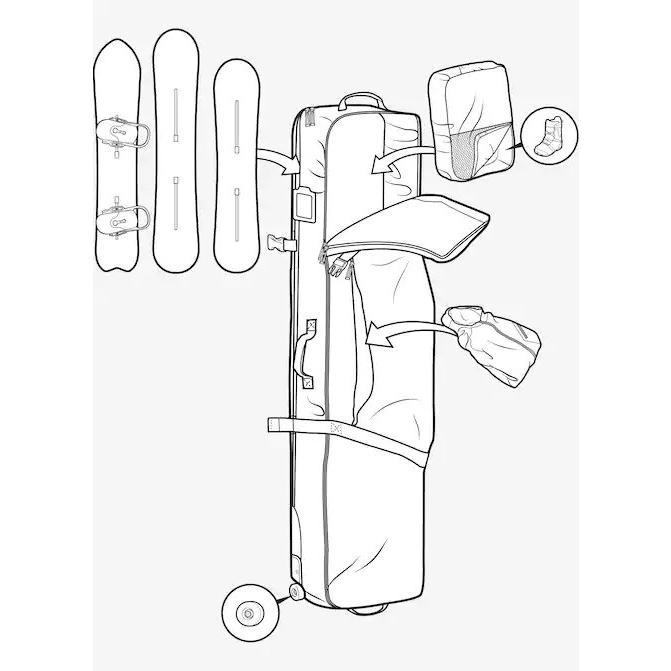 Burton/バートン Wheelie Board Case Board Bag 2doors-store 05