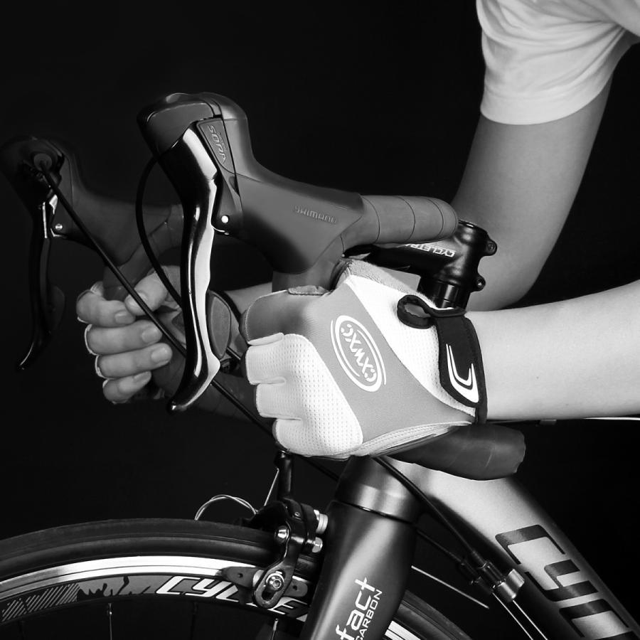 サイクルグローブ 夏用 指切り サイクリンググローブ gelパッド 衝撃吸収 メッシュ仕様 通気性 滑り止め 脱着簡単 吸汗速乾 男女兼用【S-10CX】 2ht-shop 02