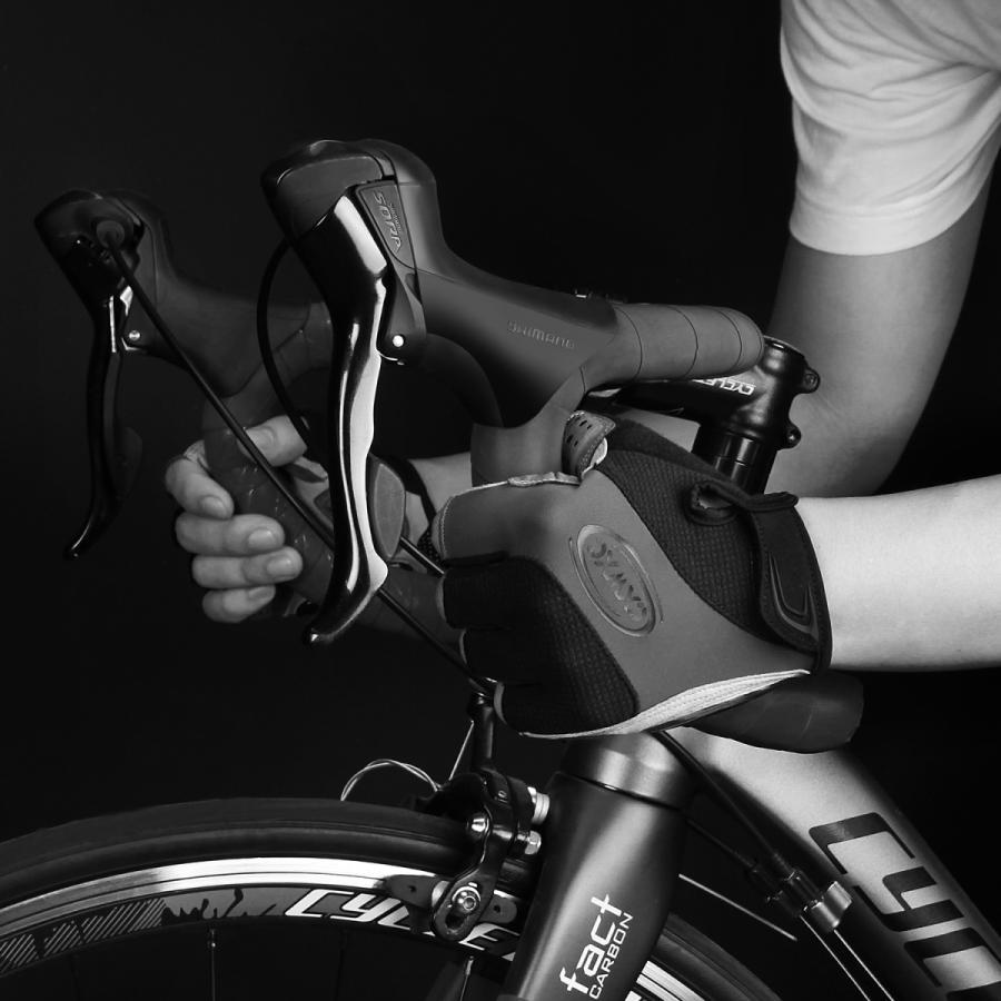 サイクルグローブ 夏用 指切り サイクリンググローブ gelパッド 衝撃吸収 メッシュ仕様 通気性 滑り止め 脱着簡単 吸汗速乾 男女兼用【S-10CX】 2ht-shop 03
