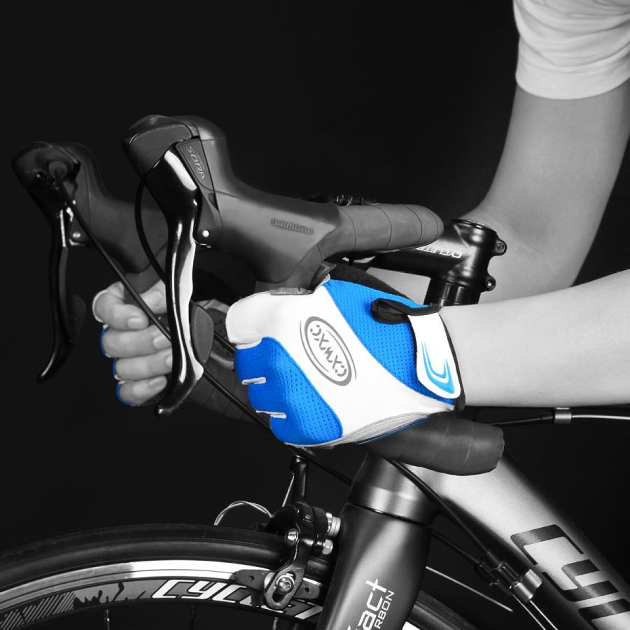 サイクルグローブ 夏用 指切り サイクリンググローブ gelパッド 衝撃吸収 メッシュ仕様 通気性 滑り止め 脱着簡単 吸汗速乾 男女兼用【S-10CX】 2ht-shop 04