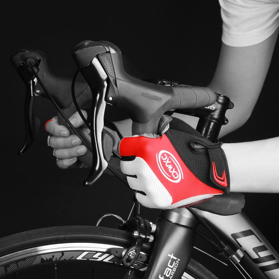 サイクルグローブ 夏用 指切り サイクリンググローブ gelパッド 衝撃吸収 メッシュ仕様 通気性 滑り止め 脱着簡単 吸汗速乾 男女兼用【S-10CX】 2ht-shop 05