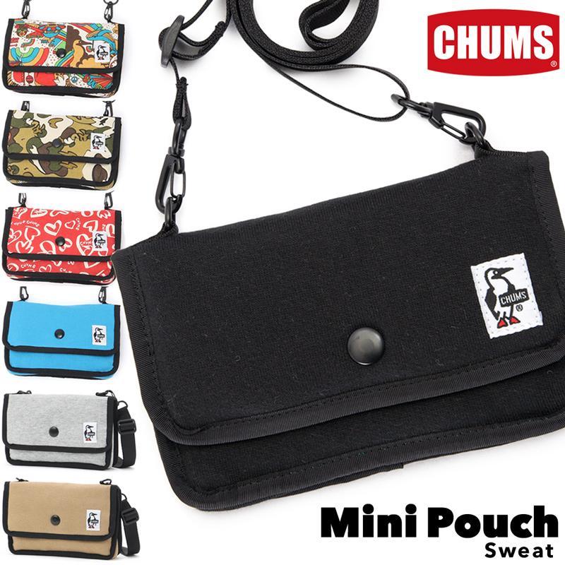CHUMS チャムス ショルダーバッグ Mini Pouch ミニポーチ スウェット|2m50cm