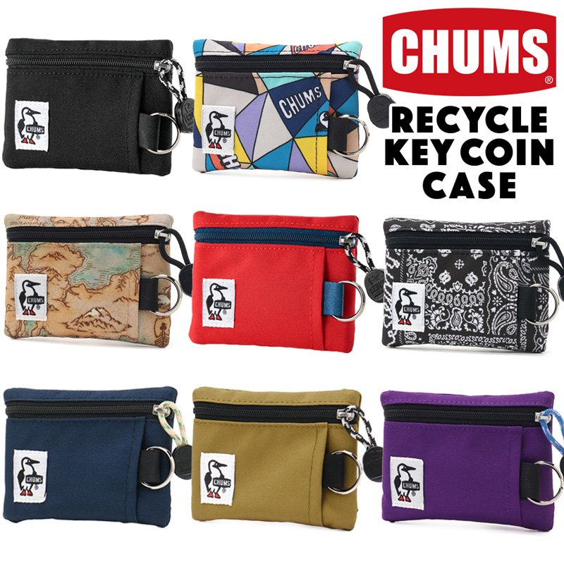 CHUMS チャムス コインケース Recycle Key Coin Case リサイクル キーコインケース 財布 キーケース 2m50cm