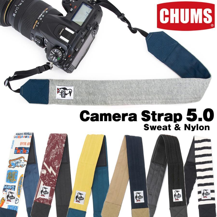 CHUMS チャムス カメラストラップ Camera Strap 5.0 スウェットナイロン 2m50cm