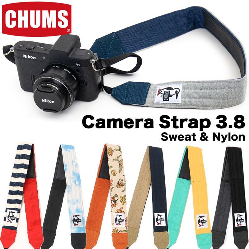CHUMS チャムス カメラストラップ Camera Strap 3.8 スウェットナイロン Sweat Nylon|2m50cm