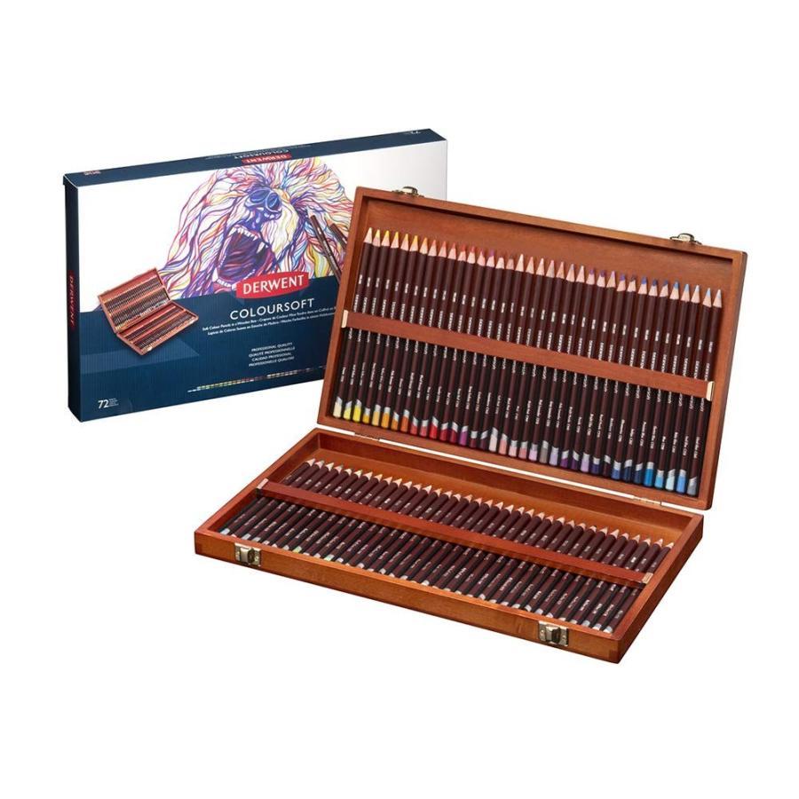 ダーウェント 色鉛筆 カラーソフト 72色セット ウッドボックスセット 0701031