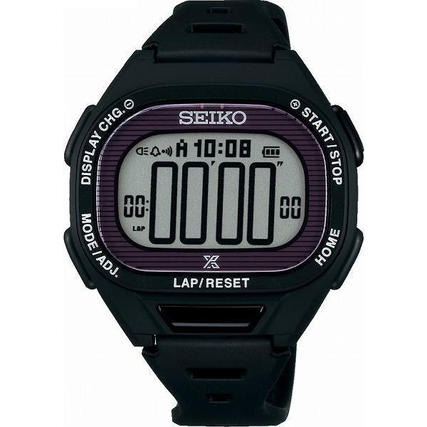 ランニングウォッチ セイコー 腕時計 メンズ ス−パ−ランナ−ズ S690 ソ−ラ− ブラック SBEF055