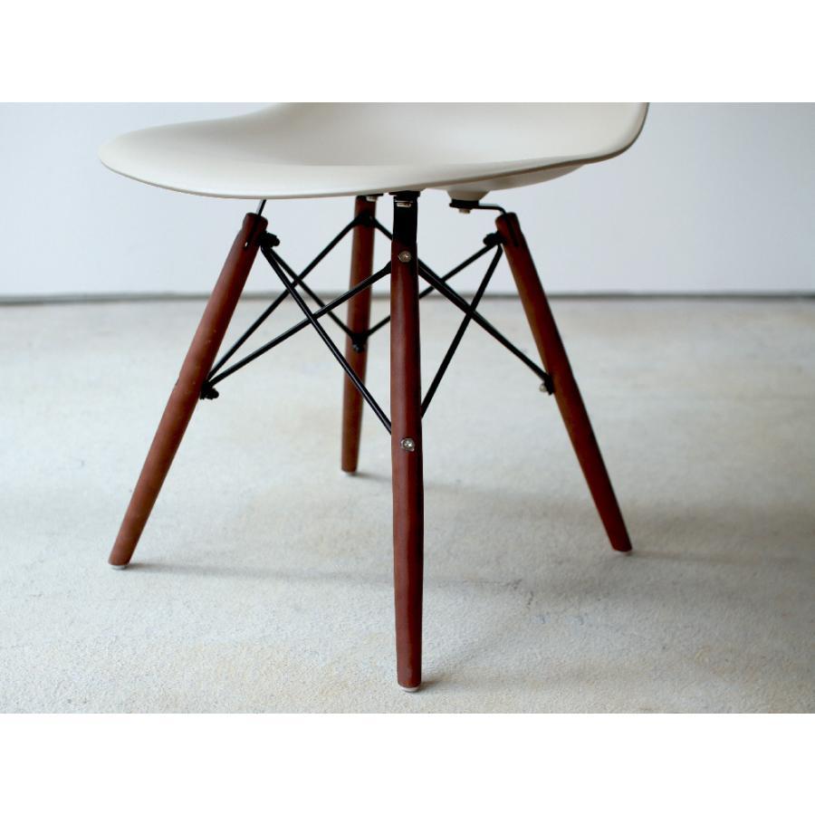 イームズチェア シェルチェア ウッドベース 椅子 イス DSW eames ブラウン木脚 リプロダクト ダイニングチェア MTS-032(BR)|3244p|12