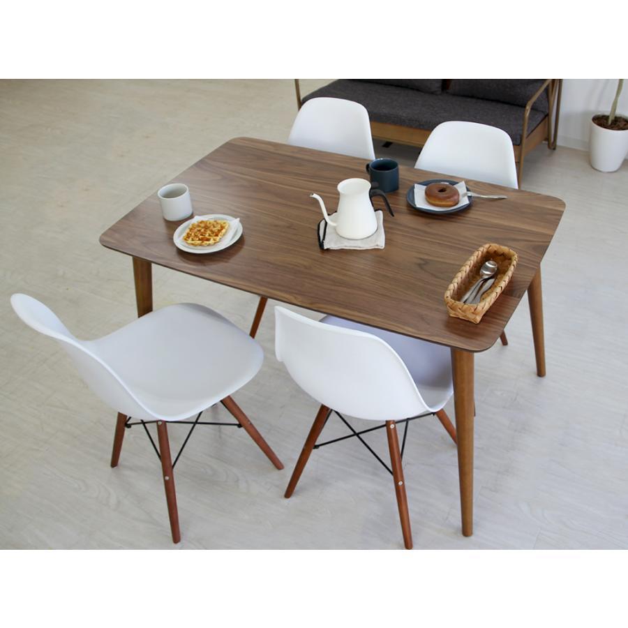 イームズチェア シェルチェア ウッドベース 椅子 イス DSW eames ブラウン木脚 リプロダクト ダイニングチェア MTS-032(BR)|3244p|14