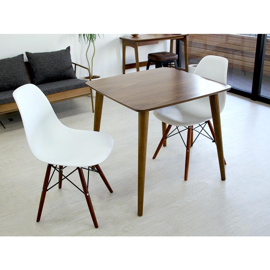 イームズチェア シェルチェア ウッドベース 椅子 イス DSW eames ブラウン木脚 リプロダクト ダイニングチェア MTS-032(BR)|3244p|15
