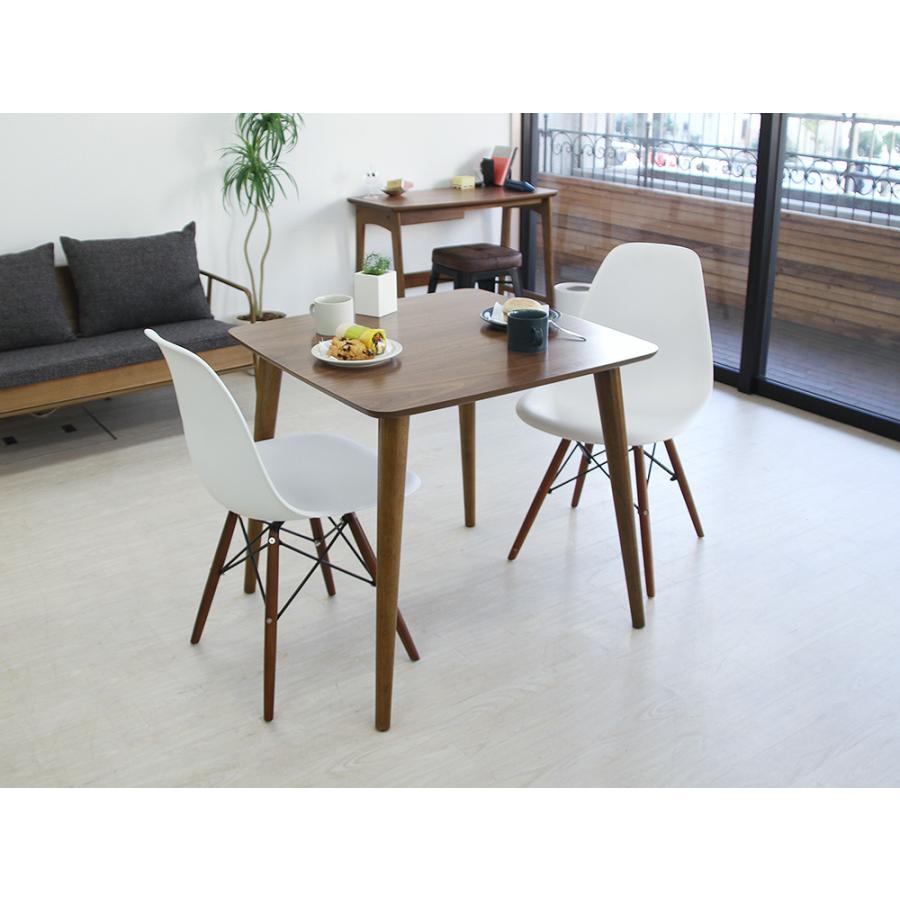イームズチェア シェルチェア ウッドベース 椅子 イス DSW eames ブラウン木脚 リプロダクト ダイニングチェア MTS-032(BR)|3244p|16