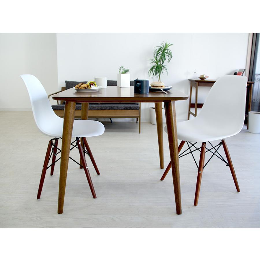 イームズチェア シェルチェア ウッドベース 椅子 イス DSW eames ブラウン木脚 リプロダクト ダイニングチェア MTS-032(BR)|3244p|17
