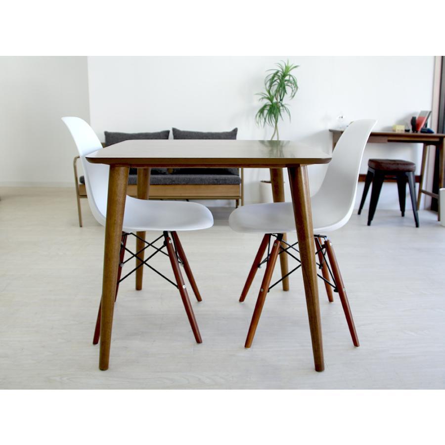 イームズチェア シェルチェア ウッドベース 椅子 イス DSW eames ブラウン木脚 リプロダクト ダイニングチェア MTS-032(BR)|3244p|18