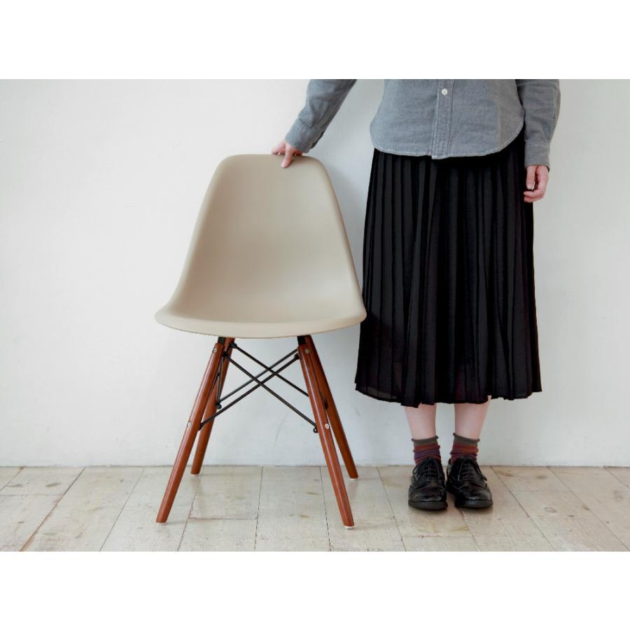 イームズチェア シェルチェア ウッドベース 椅子 イス DSW eames ブラウン木脚 リプロダクト ダイニングチェア MTS-032(BR)|3244p|05