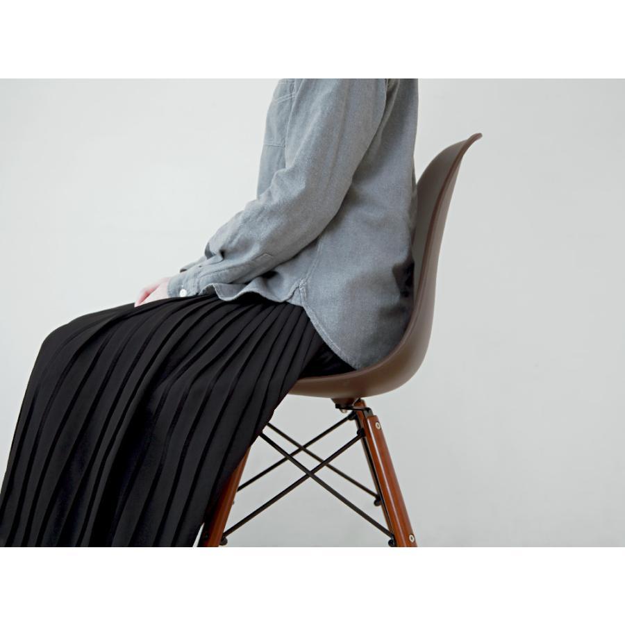 イームズチェア シェルチェア ウッドベース 椅子 イス DSW eames ブラウン木脚 リプロダクト ダイニングチェア MTS-032(BR)|3244p|06