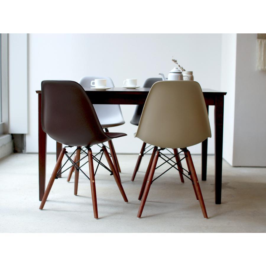 イームズチェア シェルチェア ウッドベース 椅子 イス DSW eames ブラウン木脚 リプロダクト ダイニングチェア MTS-032(BR)|3244p|07