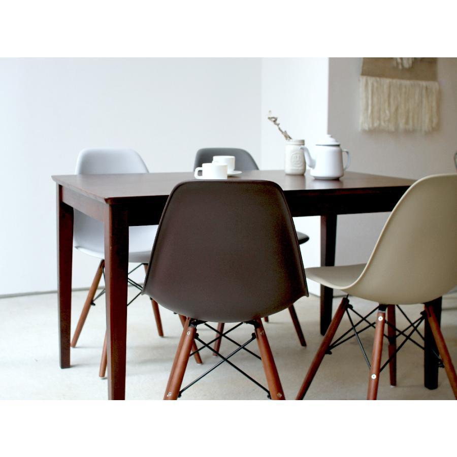 イームズチェア シェルチェア ウッドベース 椅子 イス DSW eames ブラウン木脚 リプロダクト ダイニングチェア MTS-032(BR)|3244p|08