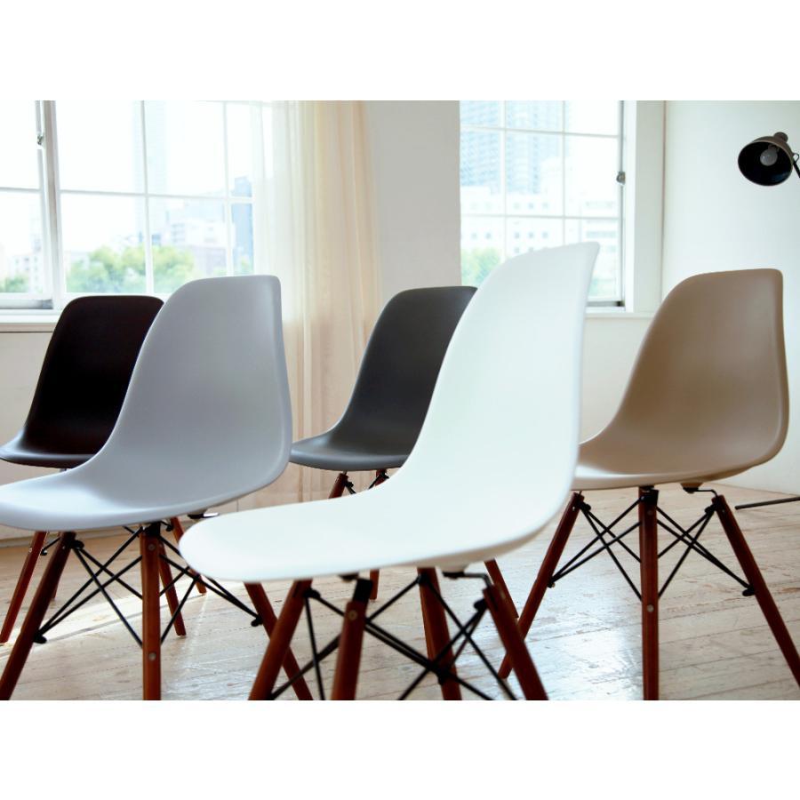 イームズチェア シェルチェア ウッドベース 椅子 イス DSW eames ブラウン木脚 リプロダクト ダイニングチェア MTS-032(BR)|3244p|09
