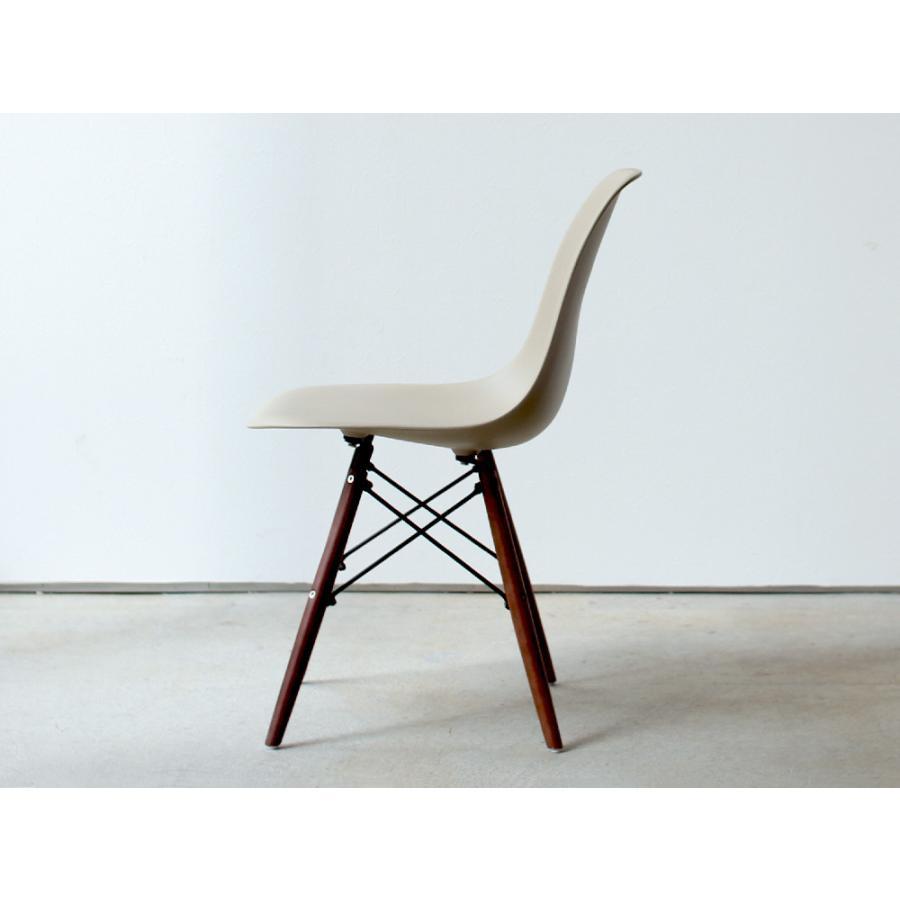イームズチェア シェルチェア ウッドベース 椅子 イス DSW eames ブラウン木脚 リプロダクト ダイニングチェア MTS-032(BR)|3244p|10