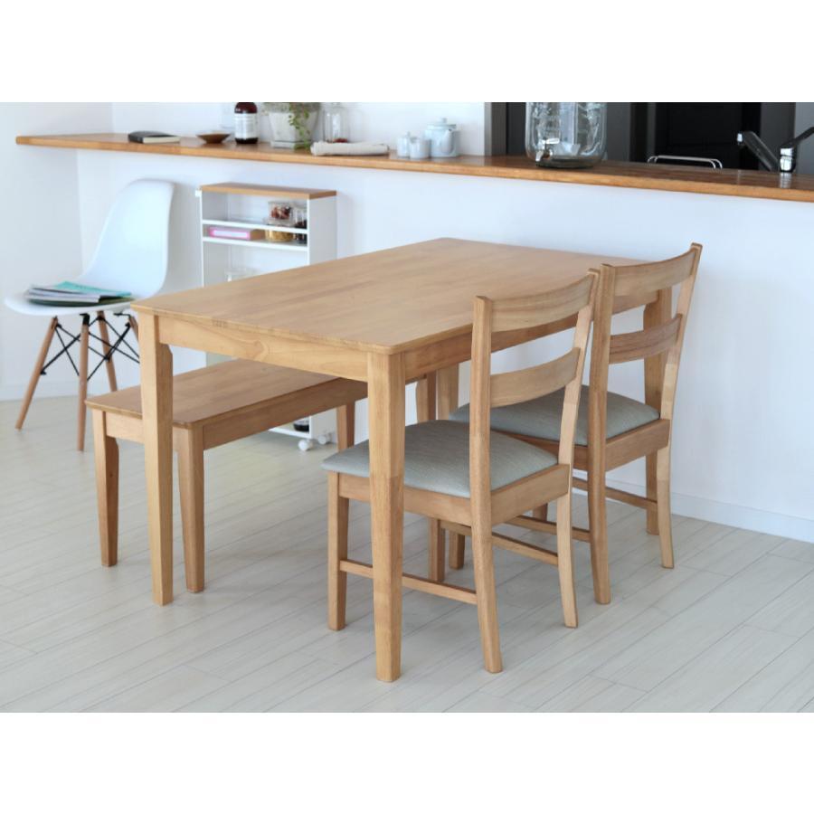 ダイニングテーブル 木製 W120×D75(cm) 2〜4名用 長方形 ナチュラル ブラウン MTS-060|3244p|11