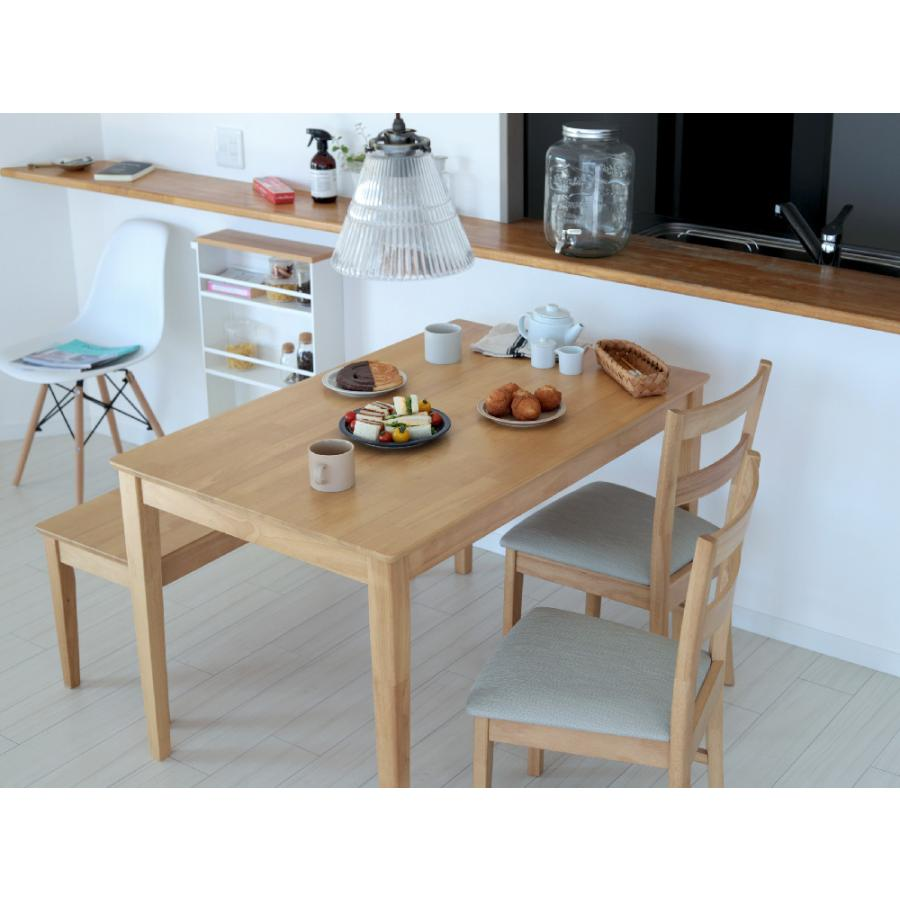 ダイニングテーブル 木製 W120×D75(cm) 2〜4名用 長方形 ナチュラル ブラウン MTS-060|3244p|12