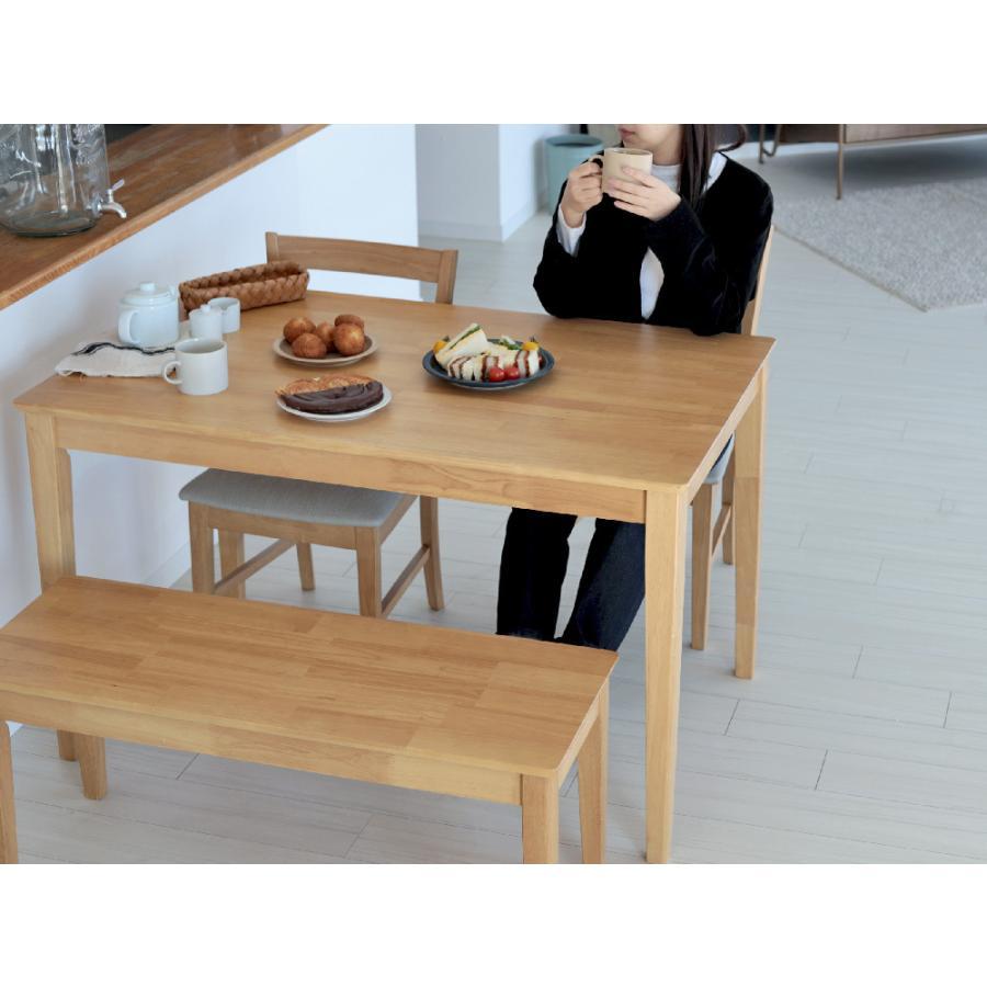 ダイニングテーブル 木製 W120×D75(cm) 2〜4名用 長方形 ナチュラル ブラウン MTS-060|3244p|13