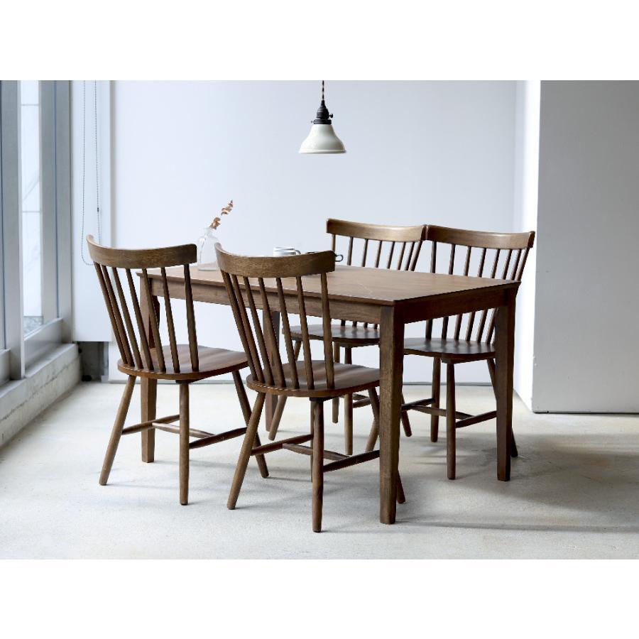 ダイニングテーブル 木製 W120×D75(cm) 2〜4名用 長方形 ナチュラル ブラウン MTS-060|3244p|14