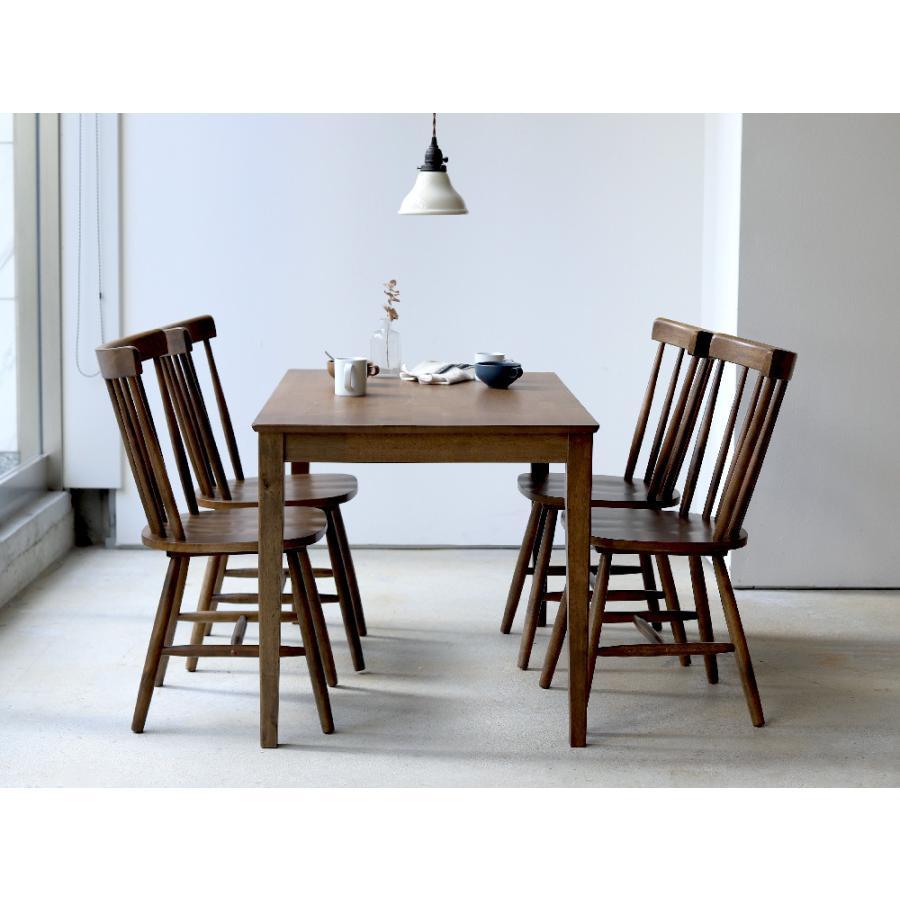 ダイニングテーブル 木製 W120×D75(cm) 2〜4名用 長方形 ナチュラル ブラウン MTS-060|3244p|15