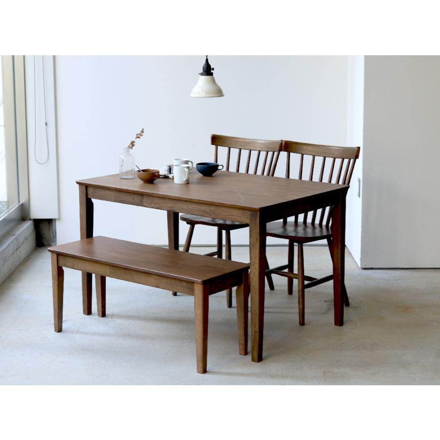 ダイニングテーブル 木製 W120×D75(cm) 2〜4名用 長方形 ナチュラル ブラウン MTS-060|3244p|16