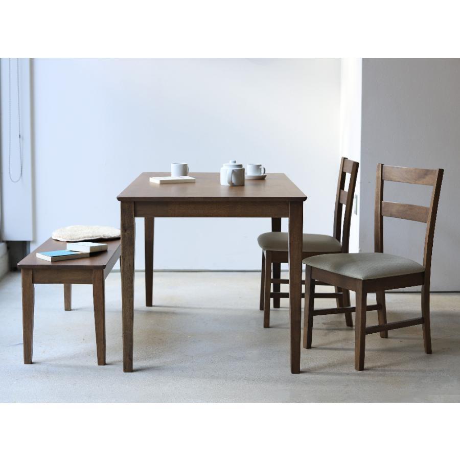 ダイニングテーブル 木製 W120×D75(cm) 2〜4名用 長方形 ナチュラル ブラウン MTS-060|3244p|17