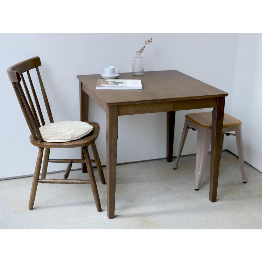 ダイニングテーブル 木製 W75×D75(cm) 2名用 正方形 ナチュラル ウォールナット MTS-063|3244p|12