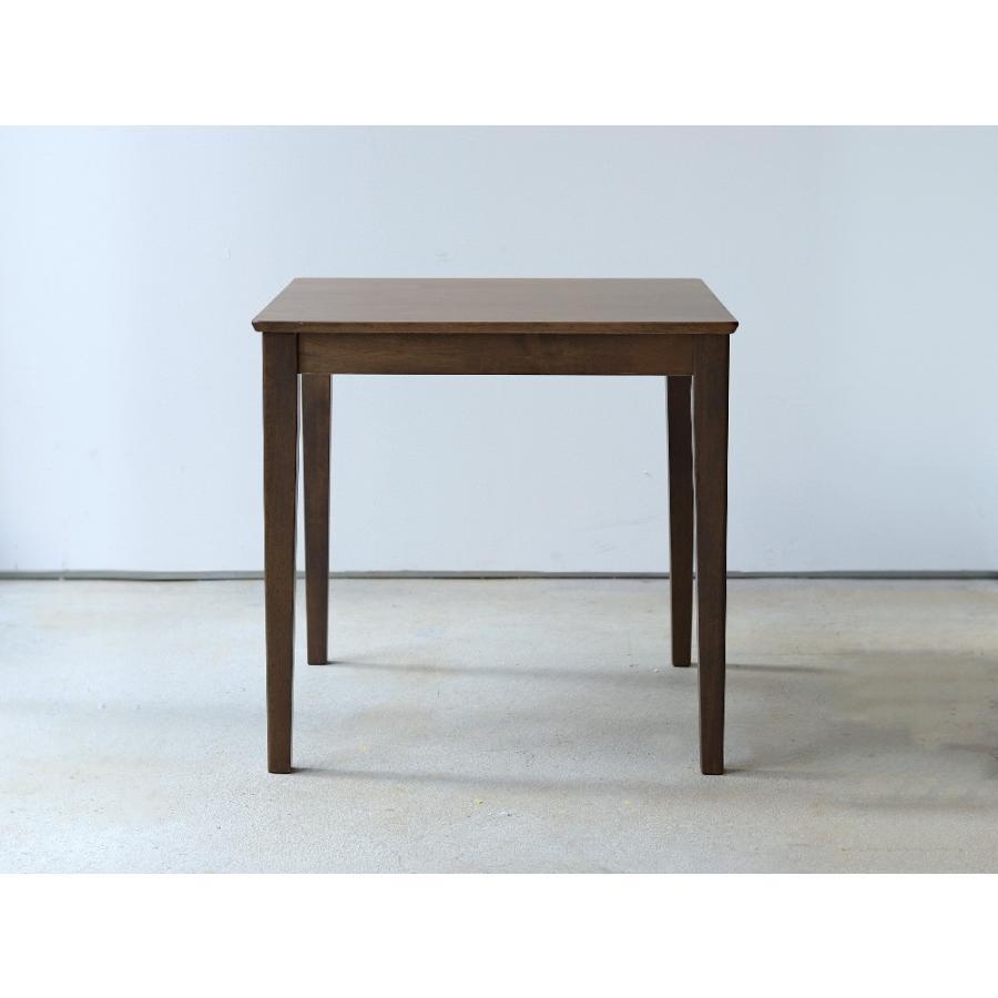 ダイニングテーブル 木製 W75×D75(cm) 2名用 正方形 ナチュラル ウォールナット MTS-063|3244p|03