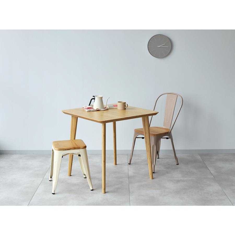 ダイニングテーブル 竹製 バンブー W75×D75(cm) 正方形 2名用 ナチュラル シンプル MTS-085|3244p|11