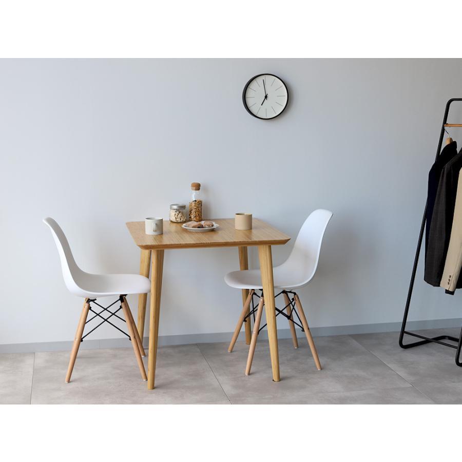 ダイニングテーブル 竹製 バンブー W75×D75(cm) 正方形 2名用 ナチュラル シンプル MTS-085|3244p|16