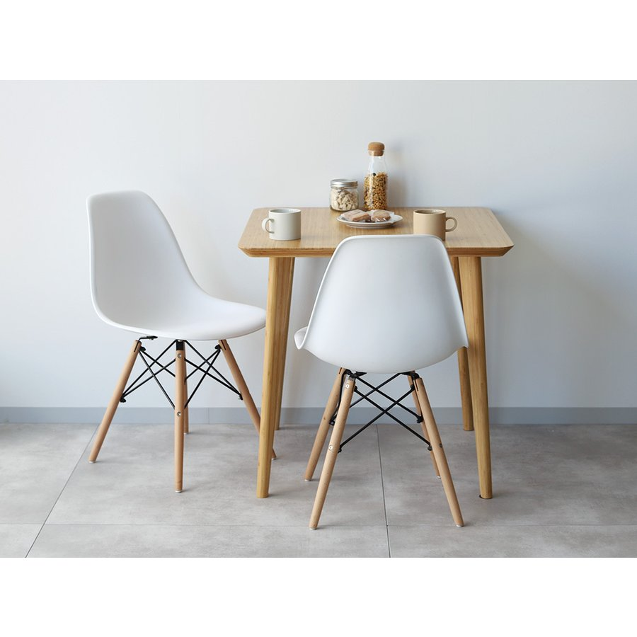 ダイニングテーブル 竹製 バンブー W75×D75(cm) 正方形 2名用 ナチュラル シンプル MTS-085|3244p|18