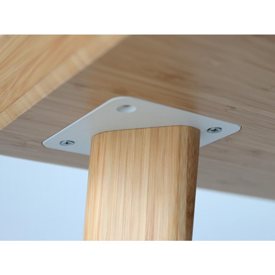 ダイニングテーブル 竹製 バンブー W75×D75(cm) 正方形 2名用 ナチュラル シンプル MTS-085|3244p|05