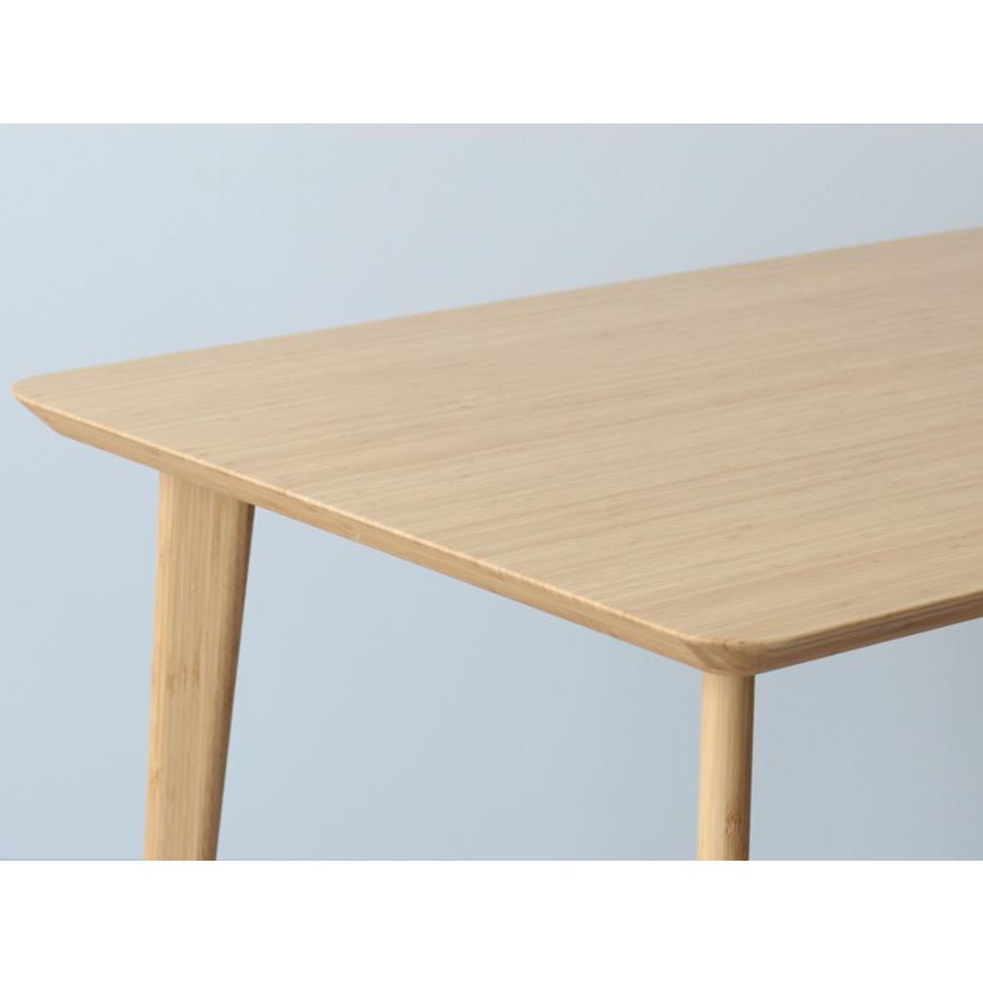 ダイニングテーブル 竹製 バンブー W75×D75(cm) 正方形 2名用 ナチュラル シンプル MTS-085|3244p|08