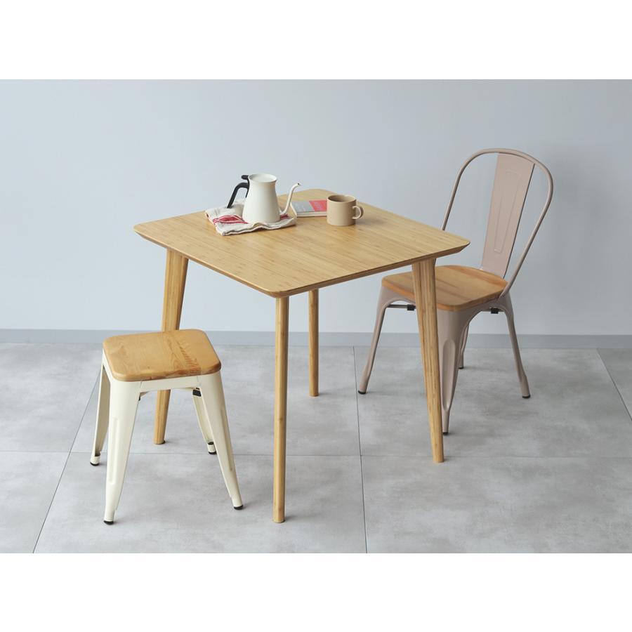 ダイニングテーブル 竹製 バンブー W75×D75(cm) 正方形 2名用 ナチュラル シンプル MTS-085|3244p|09