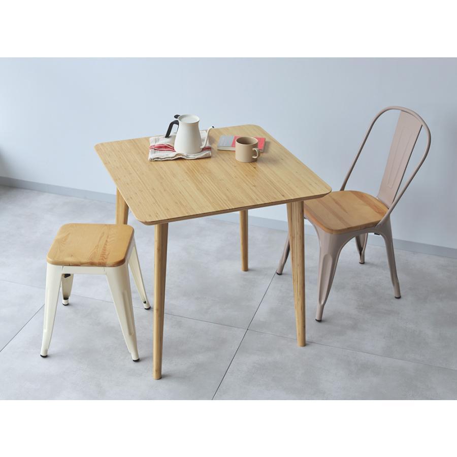 ダイニングテーブル 竹製 バンブー W75×D75(cm) 正方形 2名用 ナチュラル シンプル MTS-085|3244p|10