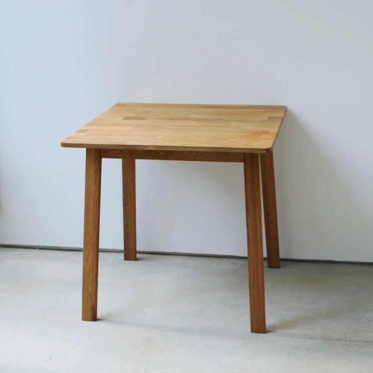 ダイニングテーブル オーク 木製 W75×D75(cm) 2名用 幅75cm 食卓 ファミリー 1人暮らし 2人暮らし 広々 テーブル 2名 MTS-087|3244p|02