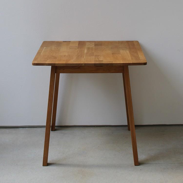 ダイニングテーブル オーク 木製 W75×D75(cm) 2名用 幅75cm 食卓 ファミリー 1人暮らし 2人暮らし 広々 テーブル 2名 MTS-087|3244p|03