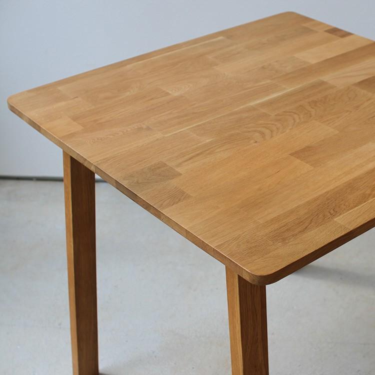 ダイニングテーブル オーク 木製 W75×D75(cm) 2名用 幅75cm 食卓 ファミリー 1人暮らし 2人暮らし 広々 テーブル 2名 MTS-087|3244p|04