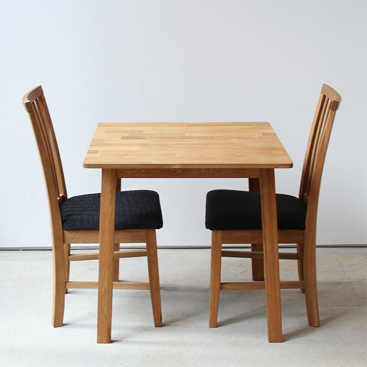 ダイニングテーブル オーク 木製 W75×D75(cm) 2名用 幅75cm 食卓 ファミリー 1人暮らし 2人暮らし 広々 テーブル 2名 MTS-087|3244p|05